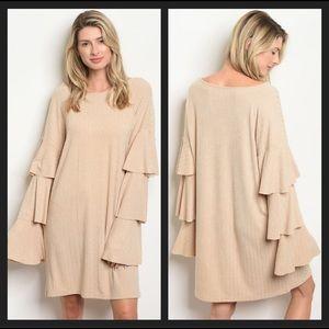 ❄️🛍WINTER SALE❄️🛍 Bell Sleeve Sweater Dress